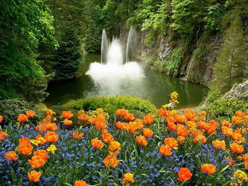 Красивые картинки водопада летом на рабочий стол